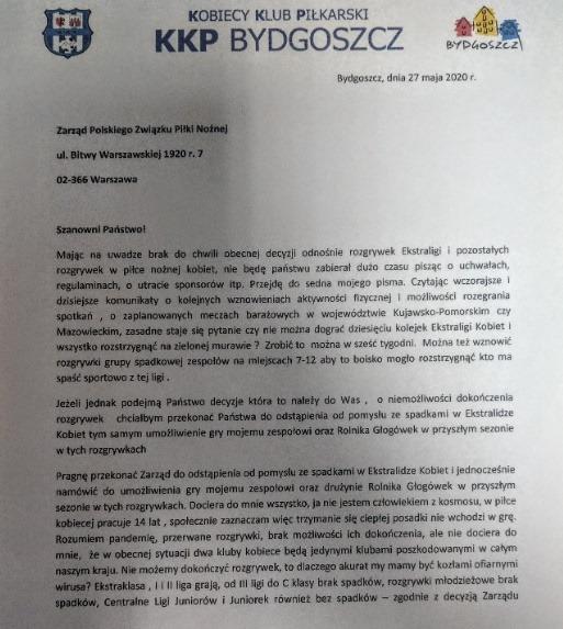 100602517 2637683343111969 1010544695954112512 n - KKP Bydgoszcz nie ustaje w walce o utrzymanie! PZPN otrzymał następne pismo